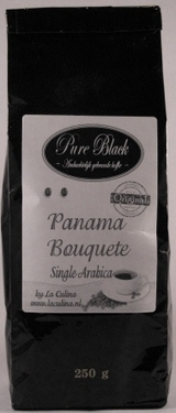 *PURE BLACK PANAMA BOUQUETE SINGLE ARABICA  250 gram