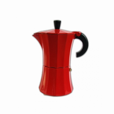 PERCOLATOR / KOFFIEPOTJE 6 PERS ROOD