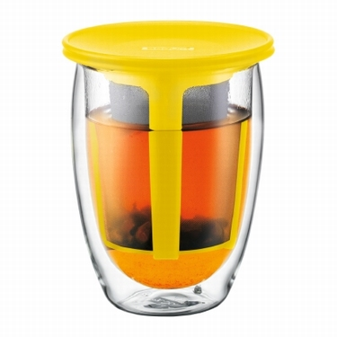 BODUM DUBBELWANDIG TEA FOR ONE GEEL