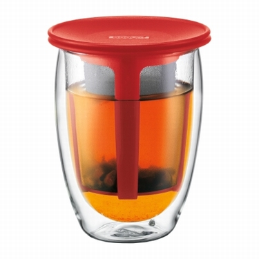 BODUM DUBBELWANDIG TEA FOR ONE ROOD