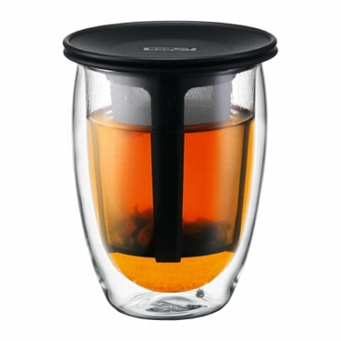 BODUM DUBBELWANDIG TEA FOR ONE ZWART