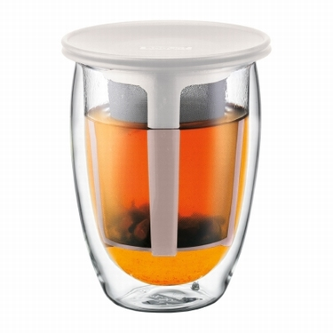 BODUM DUBBELWANDIG TEA FOR ONE WIT